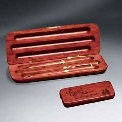 Rosewood Pen - Pencil - Letter Opener and Case Set