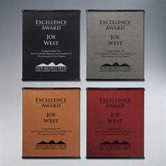 Executive Leatherette Plaque - Medium