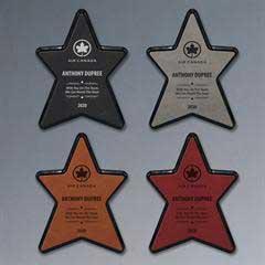 Leatherette Star Plaque