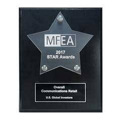 Frosted Acrylic Star Cutout on Black Plaque
