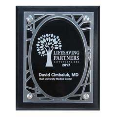 Frosted Acrylic Decorative Edge Cutout on Black Plaque