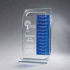 Clear Lucite Perpetual Award, Large(Glass Bars Sold Separately)