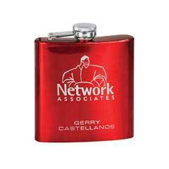 6 oz. Stainless Steel Lasered Flask