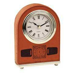 Leatherette Dome Clock