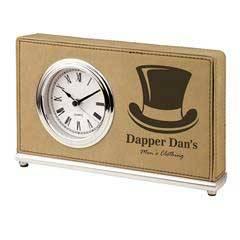 Leatherette Rectangle Clock