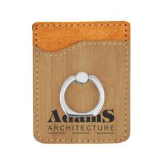 Leatherette Phone Wallet With Ring