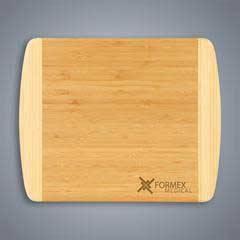 2-Tone Bamboo Cutting Board, Small