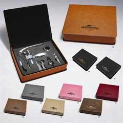 Leatherette 6-Piece Wine Set