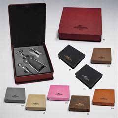 Leatherette 3-Piece Wine Set