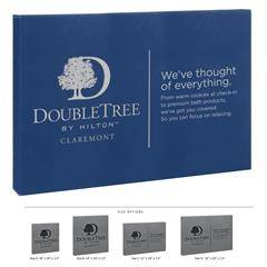 Leatherette Wall Signage Blue and Silver
