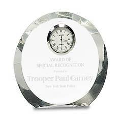 Beveled Edge Clear Crystal Clock