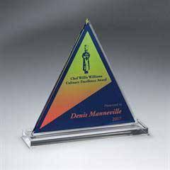 Clear Acrylic Triangle on Clear Base