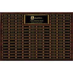 Dark Walnut Finish 144-Plt Magnetic Scroll Border Plaque  with Easy Perpetual Plt Release Program