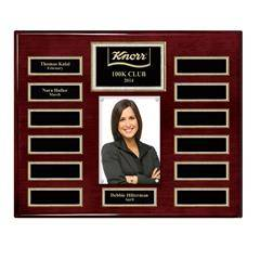 Rosewood Piano 13-Plt Magnetic Pearl Border Photo Plaque  with Easy Perpetual Plt Release Program