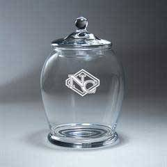 Clear Glass BonBon Bowl with Lid