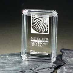 Clear Diamond Carved Desk Award