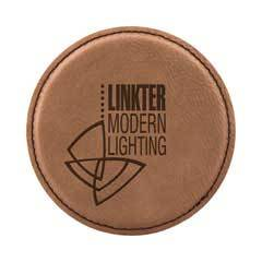 Leatherette Round Coaster