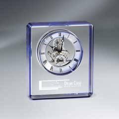 Blue Edge Crystal Skeleton Clock